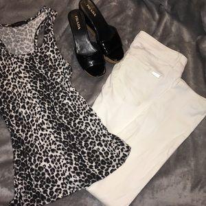 WHBM White Skinny Jeans 4R